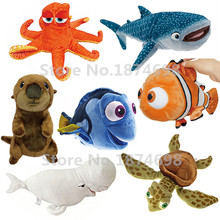 Finding Dory Plush Dory Nemo Sea Otter Bailey Whale Destiny Shark Little Dory Squirt Crush Turtle Stuffed Animals Toys 25~38cm