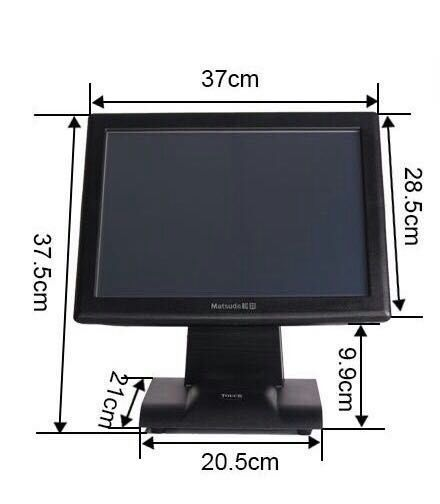commercial supermarket casher register 15 inch all in one touch pos computer with windows 7 OS,MSR