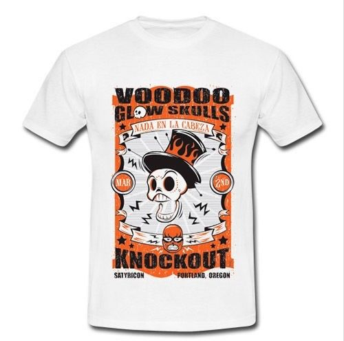 VOODOO GLOW SKULLS NADA EN LA CABEZA KNOCKOUT SKA PUNK BAND T-Shirt Men Short Sleeve T shirtL