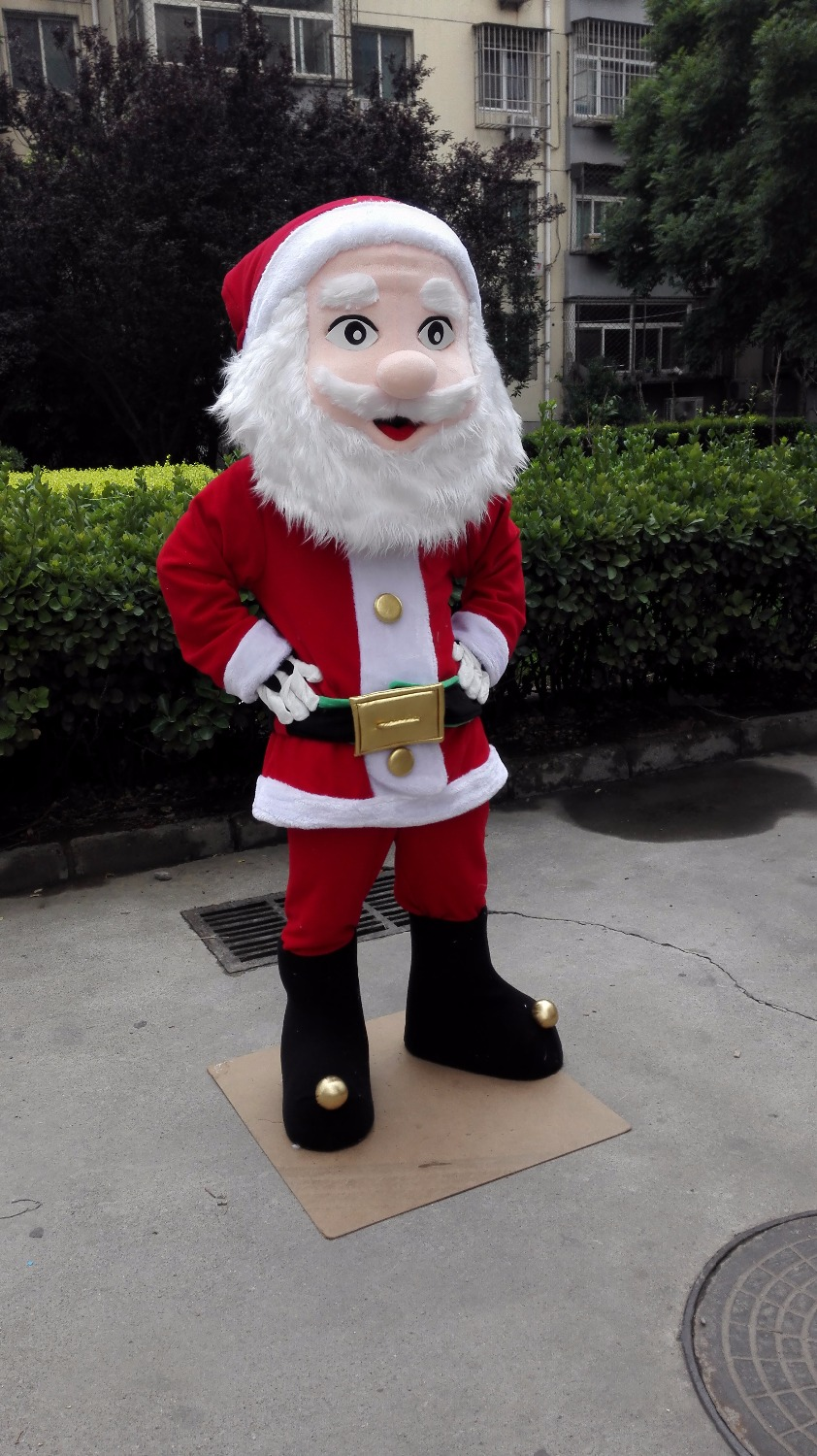 Us 218 55 7 Off Aliexpress Com Buy Santa Claus Mascot Christmas Man Mascot Costume Custom Fancy Costume Anime Cosplay Kit Mascotte Theme Fancy