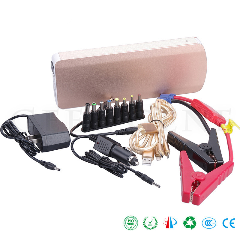 Car 800A Peak Current Jump Starter 2USB Power Bank For Diesel Gasoline Car Engine Emergency Starting