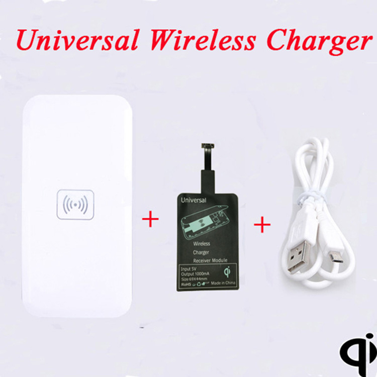 Qi Wireless Charging Pad+Universal Wireless Charger receiver for Samsung Huawei P7/8 Umi Zero Oppo Find 7 ZTE p70 vibe 2