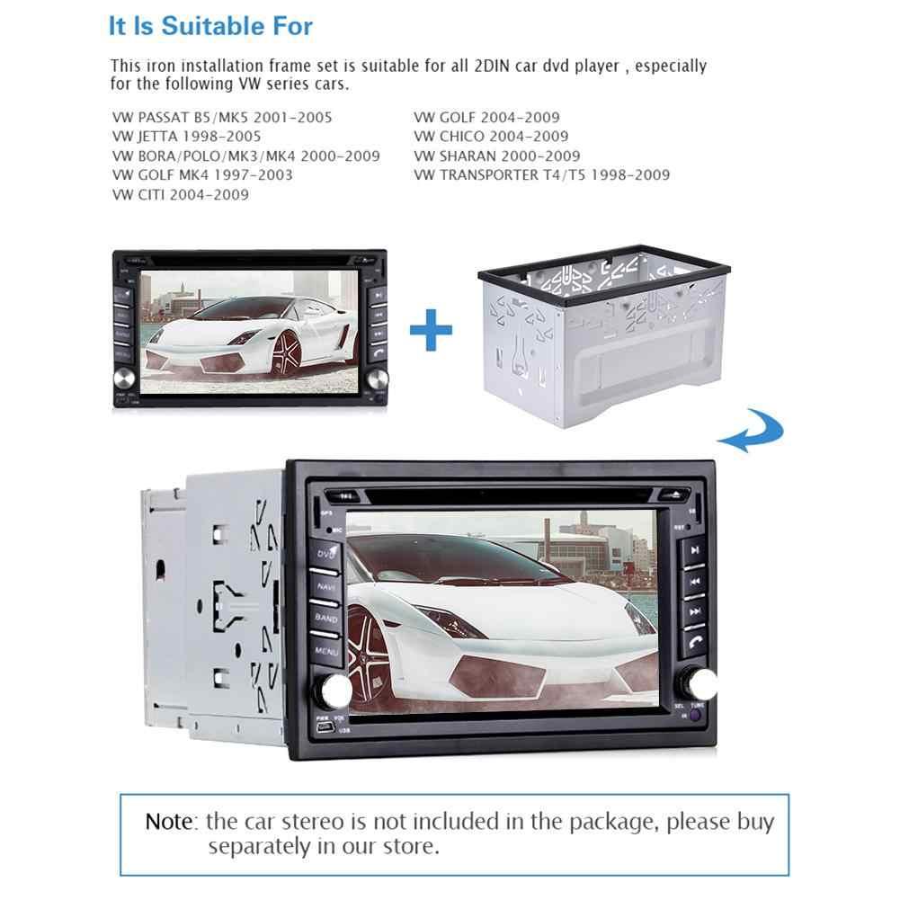 2 Din Android のカーメディア DVD MP5 Android プレーヤーラジオ取付フレームゴルフ/ポロ/MK3/ジェッタ /ユニバーサル車のパネルフレーム