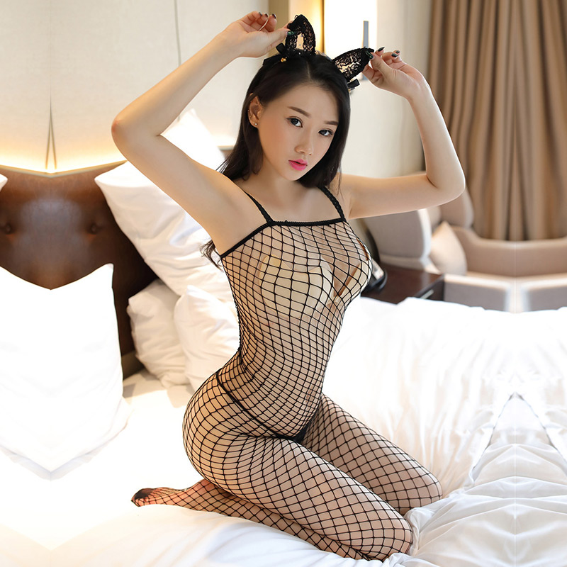 Lurehooker bodystocking Women Sexy costumes Lingerie Fishnet Babydoll Bodysuits Nightwear <font><b>catsuit</b></font> erotic <font><b>sex</b></font> game image