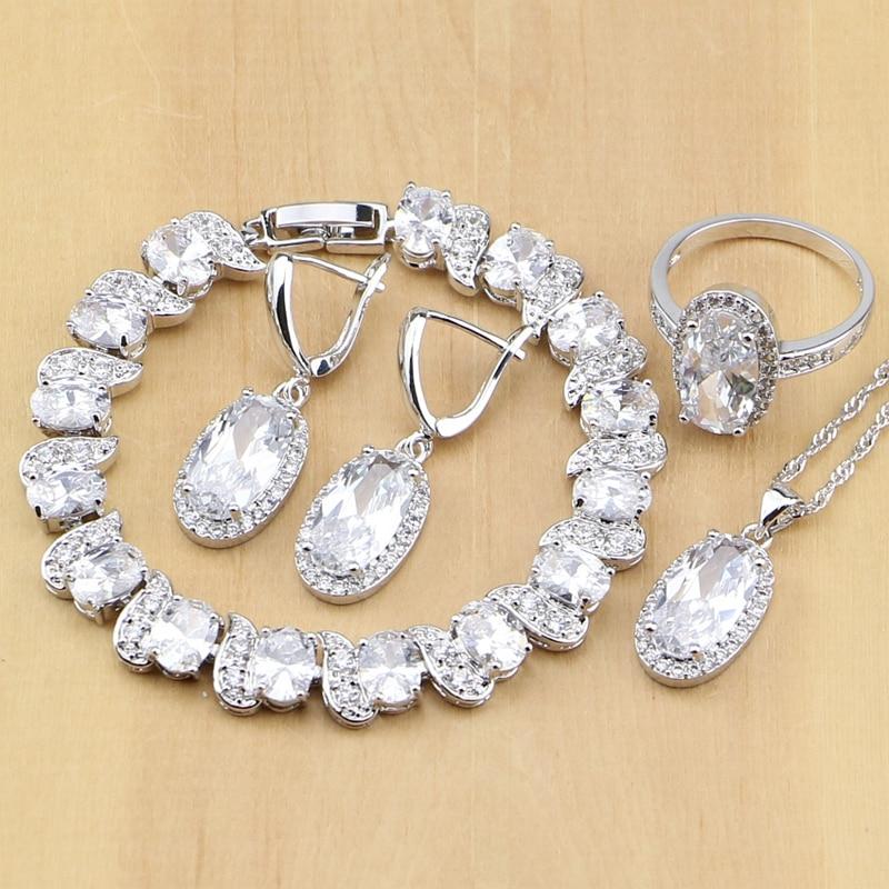 Silver 925 Jewelry White...