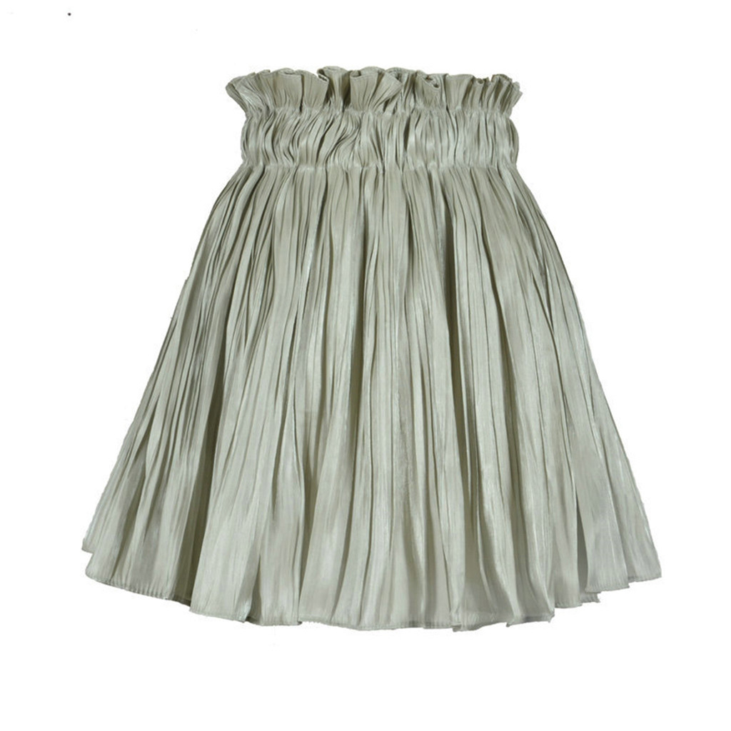 Ladies Womens Belted Flared Plain Mini Flippy Stretch Belted Skater Party Skirt