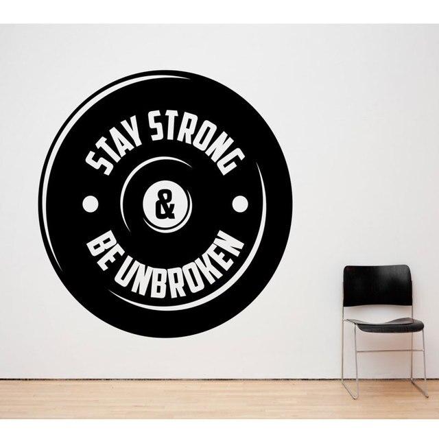 重量挙げビニールの壁のステッカースポーツフィットネス男性のジムユース寮寝室ホーム装飾壁デカール 2GY9