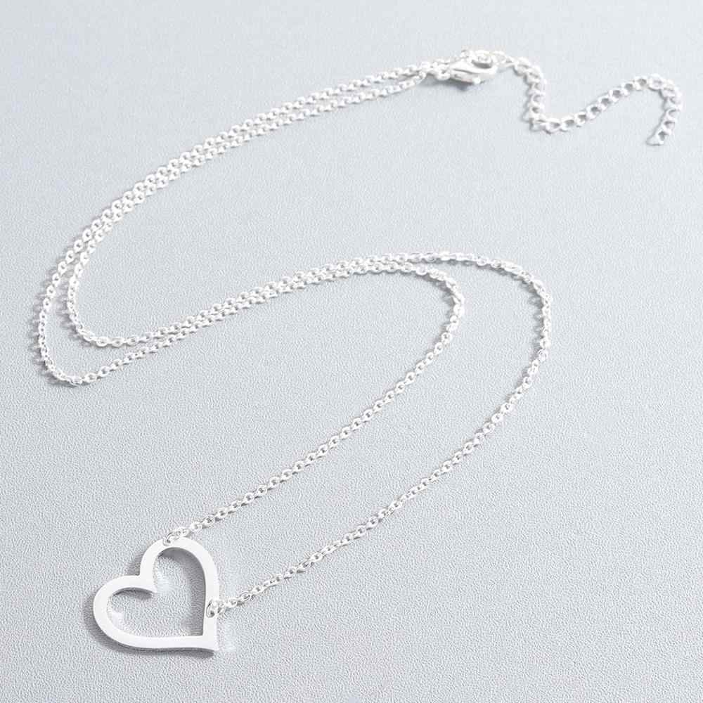 Todorova Rose Gold Dainty หัวใจจี้สร้อยคอผู้หญิงรักเครื่องประดับของขวัญเพื่อนเจ้าสาว Link Chain Bijoux Femme Collier Choker