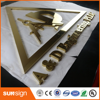 Indoor Polished Stainless Steel Channel Letter Signage