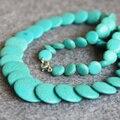 Nueva Elegante 6-14mm Turquía Turquoise Azul Jaspe cuentas Howlita Collar regalo de las mujeres niñas 18 inch Joyería que hace diseño al por mayor