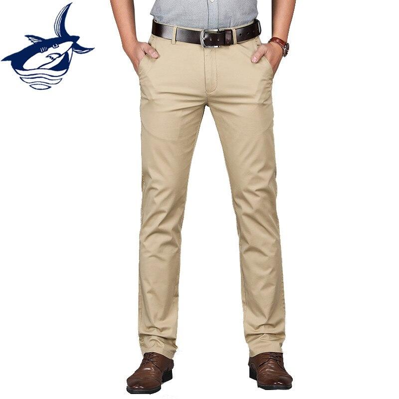 Men Clothes 2018 Brand Tace & Shark Mens Pants High Quality Khaki Black Smart Casual Business Pants Formal Dress Pants Men