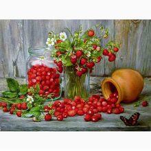 LZAIQIZG NEW 5D DIY Diamond Painting Fruit Raspberry  Embroidery Cross Stitch Needlework Gift Full Rhinestone Decorate