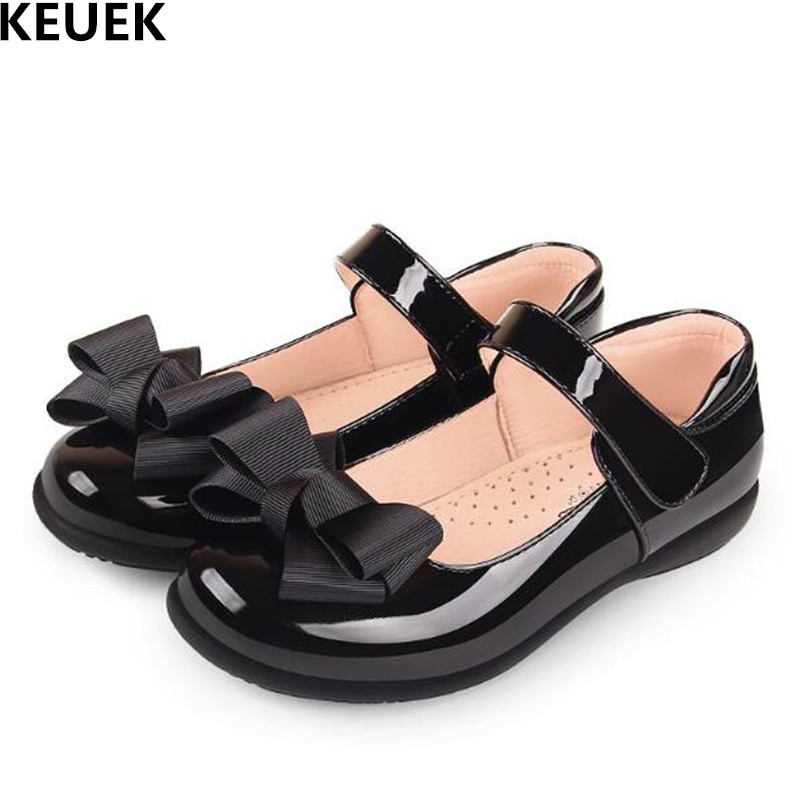Dance Leather Shoes Flats Toddler Girls Baby Black Kids Spring/autumn Princess Student