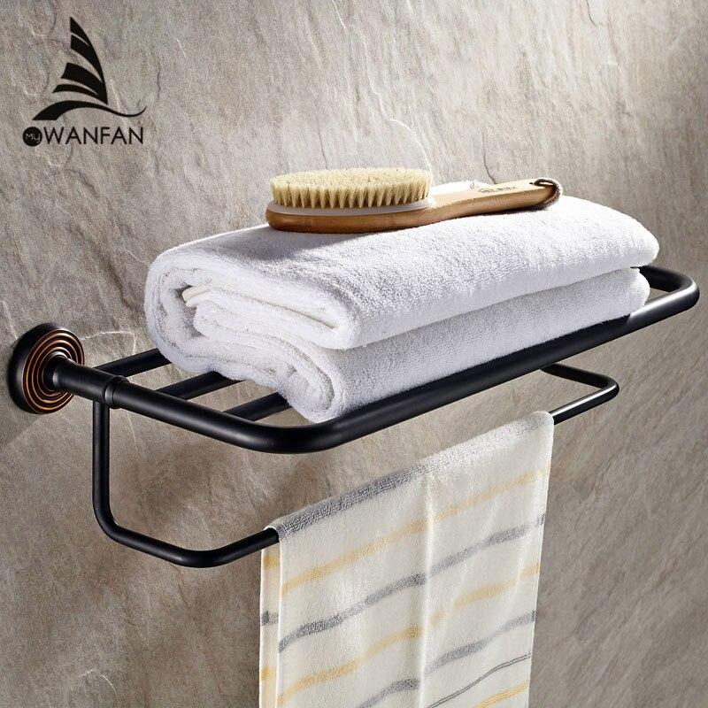 Bathroom Shelves Antique Towel Rack Brass Towel Rack Home Decorative ...