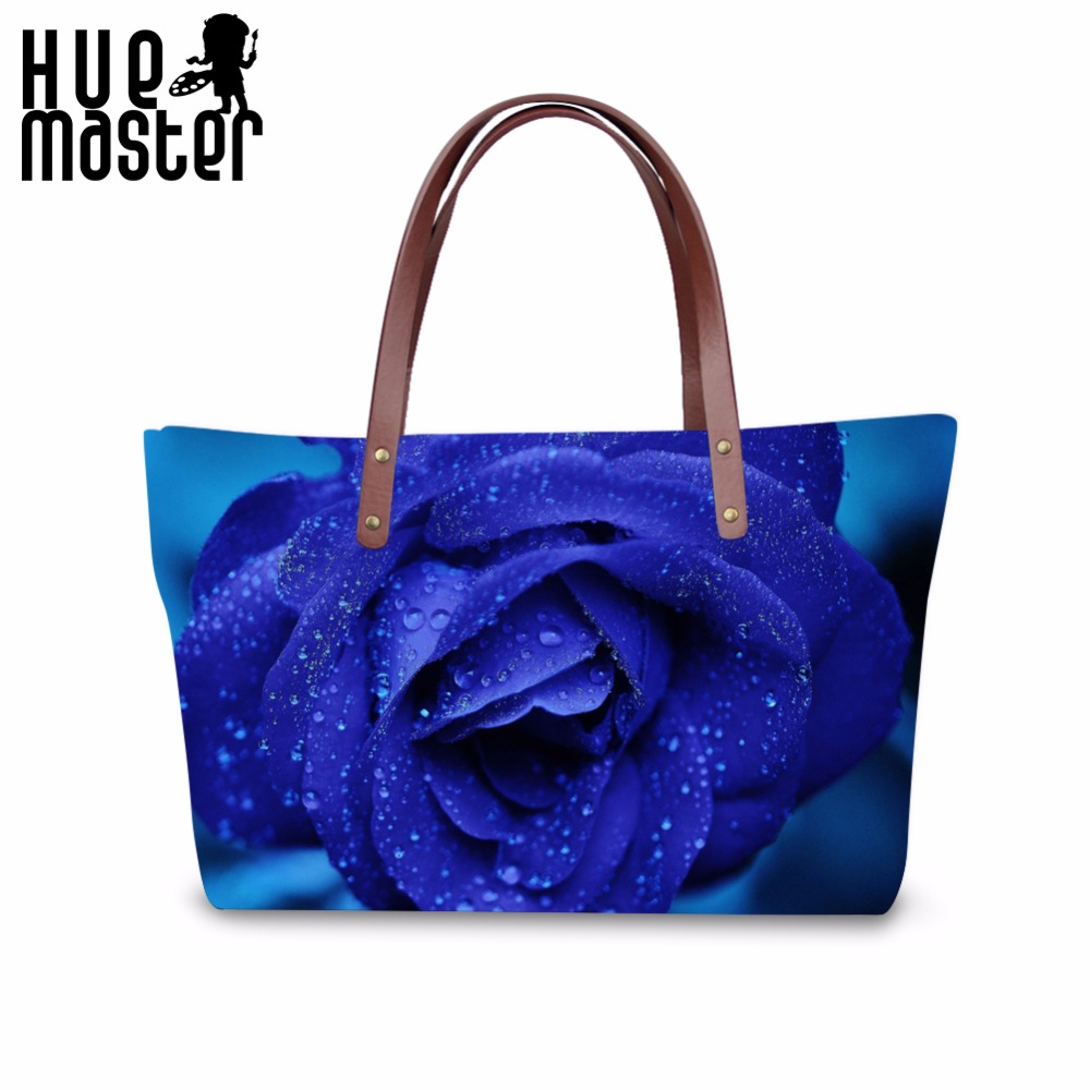 Kvinnor Tygväska Rose Printing Handväskor Högkapacitet Skalväska - Handväskor - Foto 1