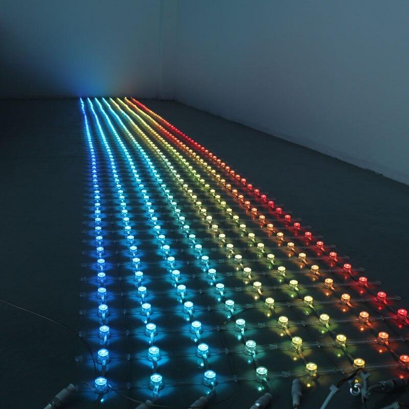 1.2 M * 1.2 M 400 LED s/set 20mm UCS1903 pixel LED rvb grille affichage couleur extérieure publicité vidéo mur écran lumière, entrée DC5V