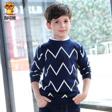 Children's clothing male child sweater child pullover o-neck spring and autumn knitted sweater