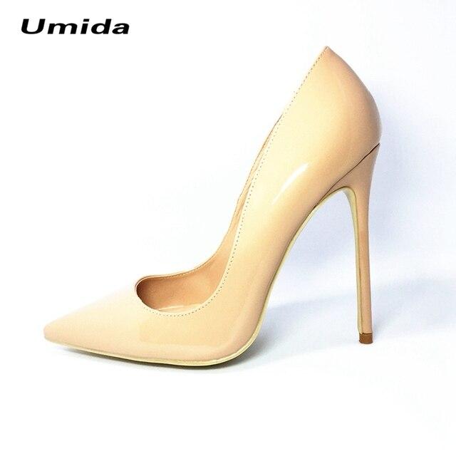 Умида Марка Женщины Насосы Высоких Пяток Женщин Насосы Плюс Size33-43 натуральная Кожа Женская Обувь Насосы 12 СМ Туфли На Высоких Каблуках Женщины обувь