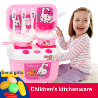 Children Cooking Food Kitchen Toys Pretend Play Home Kitchenware Set For Kids Creative Boys Girls Gift