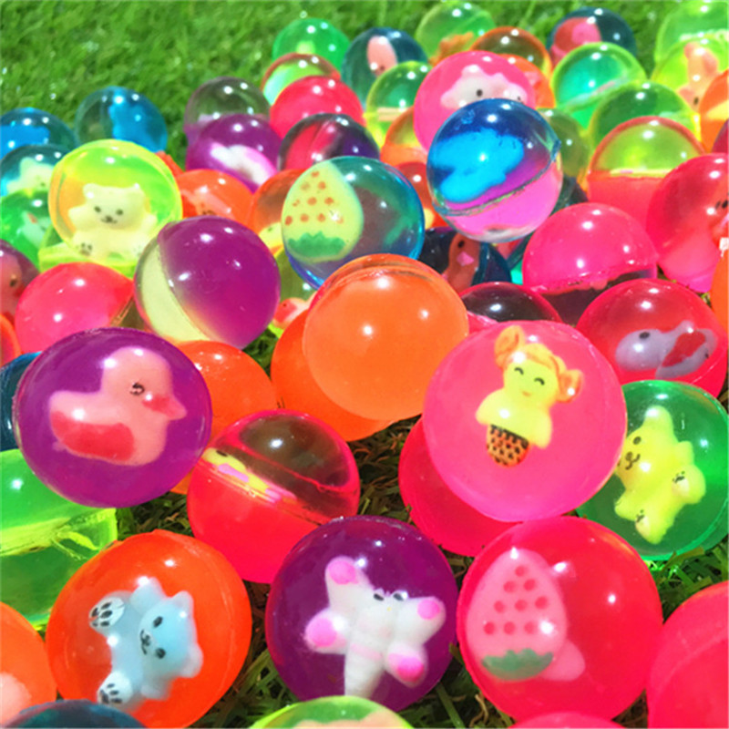 25MM Bouncing Ball Animal Model Child Rubber Ball Of Bouncy Toy 20pcs/30pcs/50pcs/80pcs/100pcs