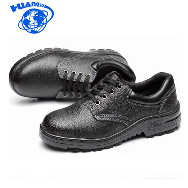 HUANQIU Men steel Anti-smashing Shoes Steel Toe Caps Safety Shoes Wear-resistant Anti-slip Work Shoes wyq11