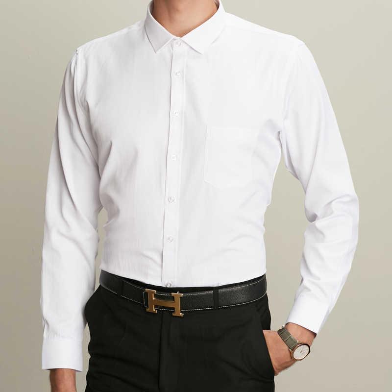 Vestido grueso cálido de invierno shhirt marca de moda Camisa de manga larga Masculina hombres Slim fit Formal Casual Camisa de hombre Plus tamaño