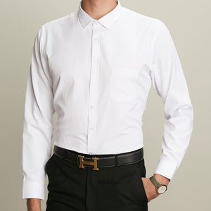 Image 5 - Winter Warm thick dress shhirt Fashion Brand Camisa Masculina Long Sleeve Shirt Men Slim fit Formal Casual Male Shirt Plus Size