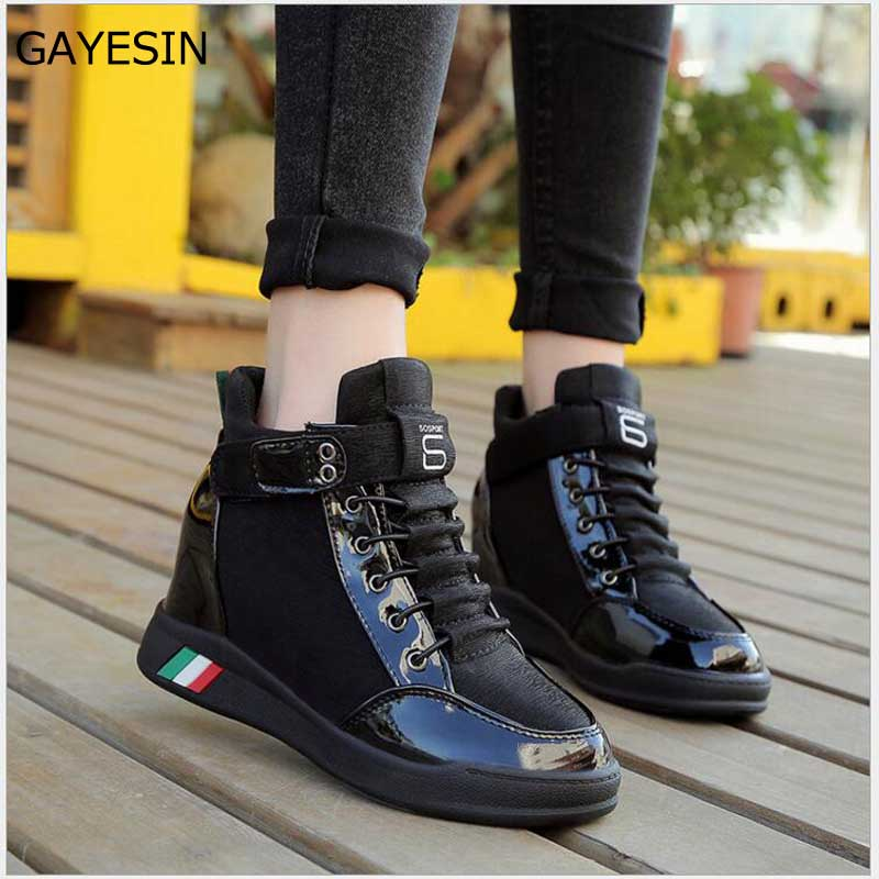 Women Wedges Causal Shoes Woman Breathable Platform Denim Canvas Shoes Hidden Wedge Sneakers Zapatillas Mujer superstar shoes 19