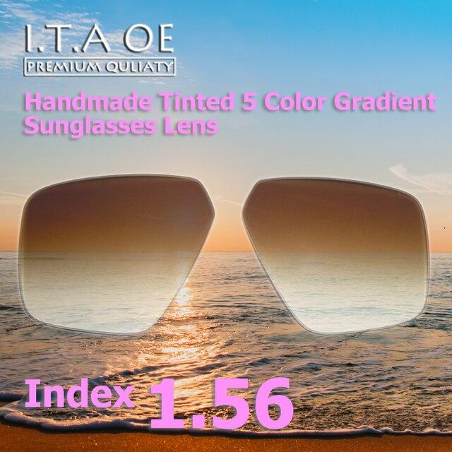 679ac1d5ff594 1.56 Index Cool Fashion 5 Colors Handmade Tinted Grident Prescription  Sunglasses Optical Lens For Eyewear Frames Anti UV Scratch