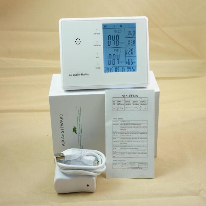 Free shipping  Indoor Desktop Air Quality Detector PM2.5 monitor JSM136 az 7788 desktop co2 temperature humidity monitor data logger air quality detector