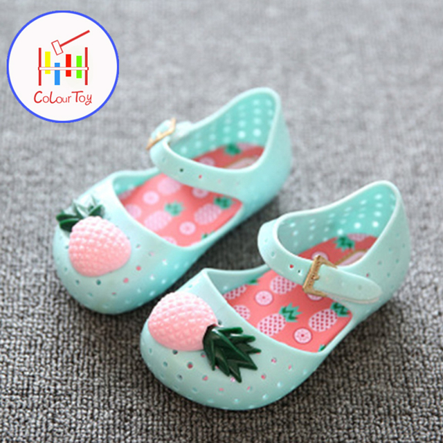 df3592294f7f16 Girls Sandals Summer Kids Shoes 2018 New Fashion Beach Size Plastic Shoes  Princess Lovely Mini Boots for 1-7 Years Children