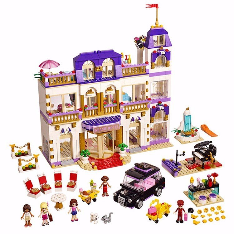 2016 NEW 1585pcs Friends 41101 Heartlake Grand Hotel Minifigures Building Blocks Kid Model DIY Bricks Toys Girl Christmas Gifts (3)