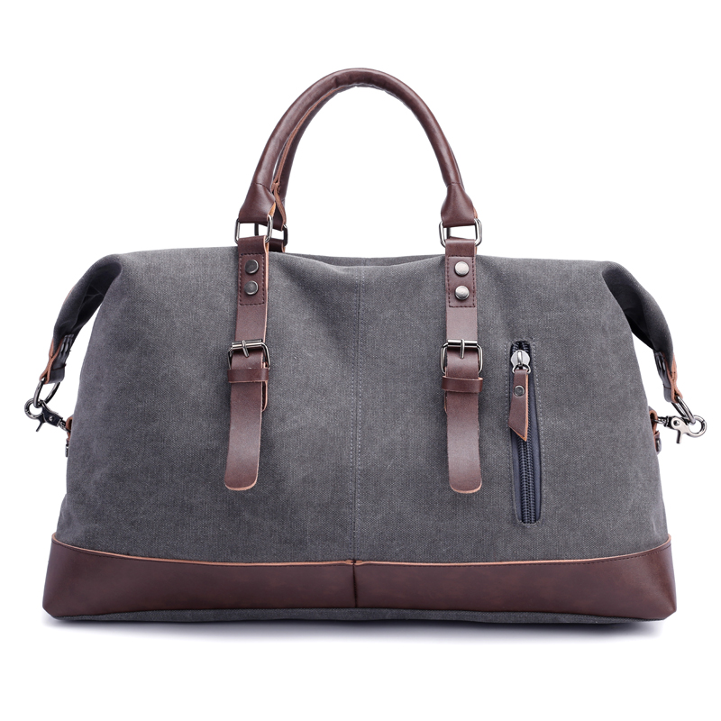 New Canvas Leather Men Travel Bags Vintage Shoulder Bags Large Capacity Travel Duffle Bags High Quality Tote Weekend Bag new pu leather men travel bags for teenagers messenger bags travel duffle weekend tote bags crossbody men s shoulder bag