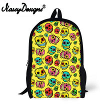 Funny flower skull 3D Printed Backpack for Teens student Cute Book Bag Kids School Backpack Customize image schoolbag(China)