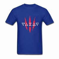 Witcher 3 Signs And Logo Men T Shirt MMA Men S 100 Cotton Short Sleeve Shirts