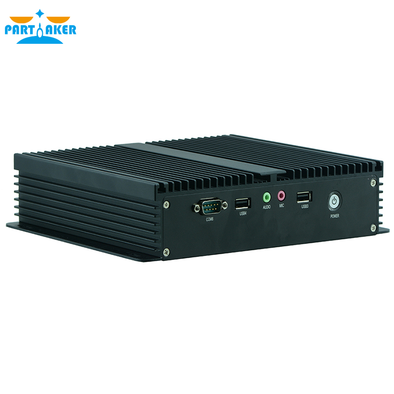 Partaker Q2 Industrial Mini PC Windows 10 Fanless PC With 6 COM Can Support Wake On LAN/PXE