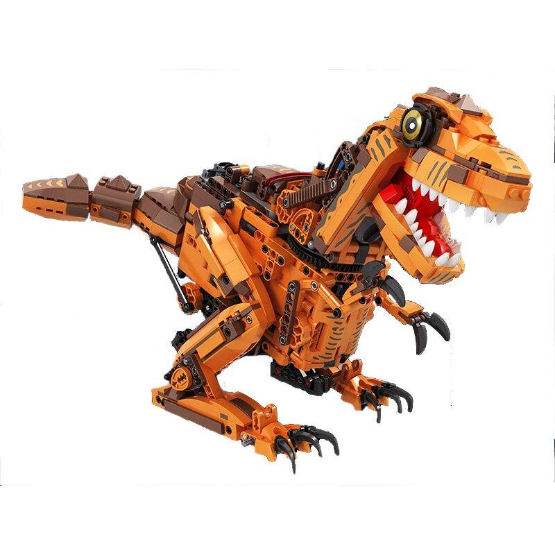 Zwycięzca 7106 1092 sztuk Technic twórców ekspertów RC zdalnego sterowania dinozaur Model klocki zabawki dla Childrn w Klocki od Zabawki i hobby na  Grupa 2