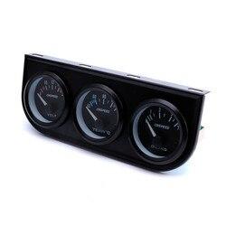 CNSPEED 52mm 3 w 1 wskaźnik sterowania woltomierz miernik + wskaźnik temperatury wody + miernik ciśnienia oleju miernik samochodowy wskaźnik samochodowy XS101266