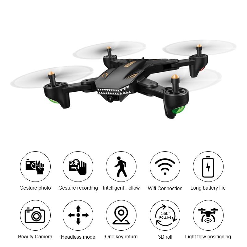 Original VISUO XS816 4CH WiFi FPV With Dual Lens 720P/480P Camera Optical Flow Positioning RC Drone Quadcopter RTF