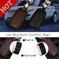 Genuine Leather Car intelligent/folding Key Case Fob Cover for Range Rover Freelander 2 Aurora found 34 Jaguar XF XJ