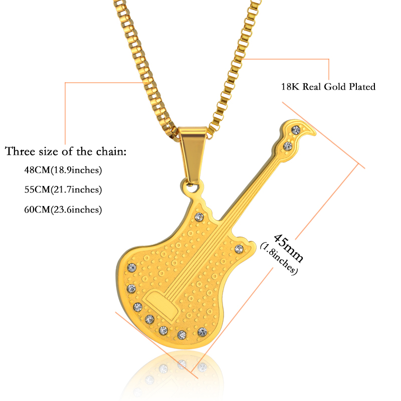 Necklace Musical Pendant Guitar Music Jewelry