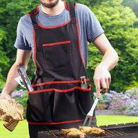 Avental de trabalho utilitário com 16 bolsos ferramenta avental cross-back cintas tamanho ajustável  se encaixa masculino & feminino protetor e impermeável