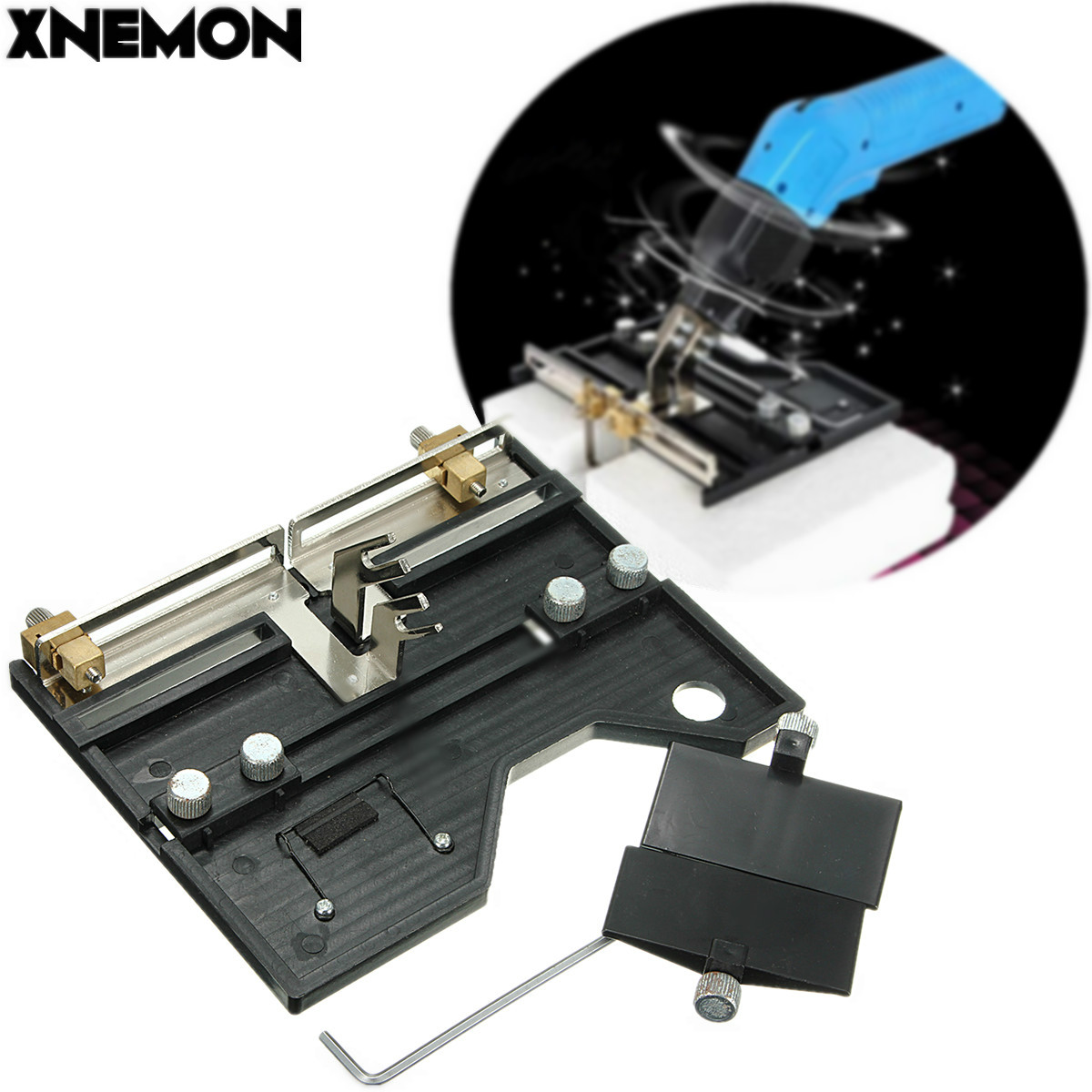 XNEMON Large Groove Electric Hot Knife Foam Cutter Heat Wire Grooving Cutting Tool 10-160MM, Adjustable Size Foam Cutting Board 2mm wide blade cutter rod 12mm outer diameter cutting arbor external grooving lathe tool holder width grooving parting cutting