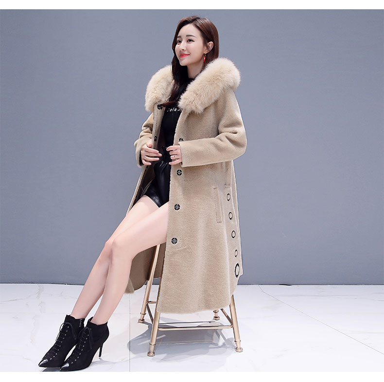 f65cfc45622 Winter Loose Womens Jackets 2019 New Fur Sheep Shearing Coat Womens ...