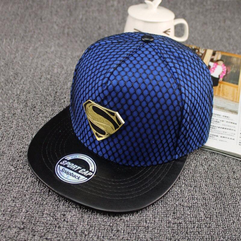 2016 nueva moda verano marca Superman gorra de béisbol hombres womenteens  casual hueso hip hop SnapBack gorras Sombreros en Gorras de béisbol de  Deportes y ... 3ba463cbbb6