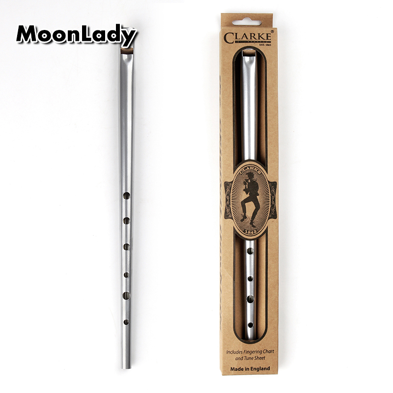 Traditional Clarke Flute Silver C/D Key Whistle Ireland Musical Instrument Irish Whistle Flute Woodwind Instrument Flute
