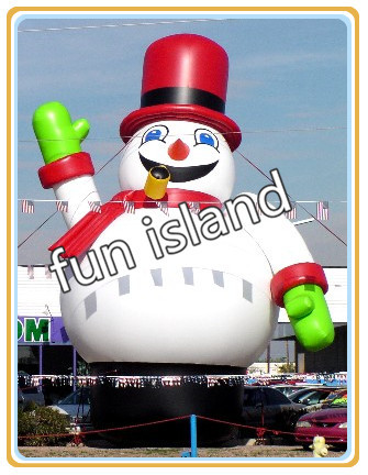 lovely 40ft inflatable snowman cartoon/advertising OEM inflatable snowman with blower free shipping