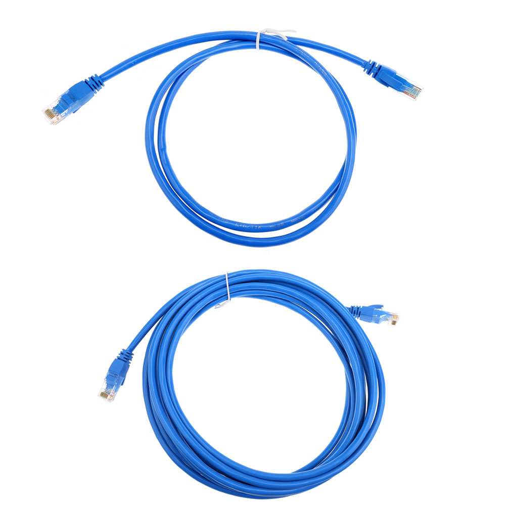 1m/5m Round UTP Ethernet Network Cable Cat6 RJ45 Patch LAN Cord Wire for Modem Router Blue silent wire series 16 patch cable cat 7 10 0m