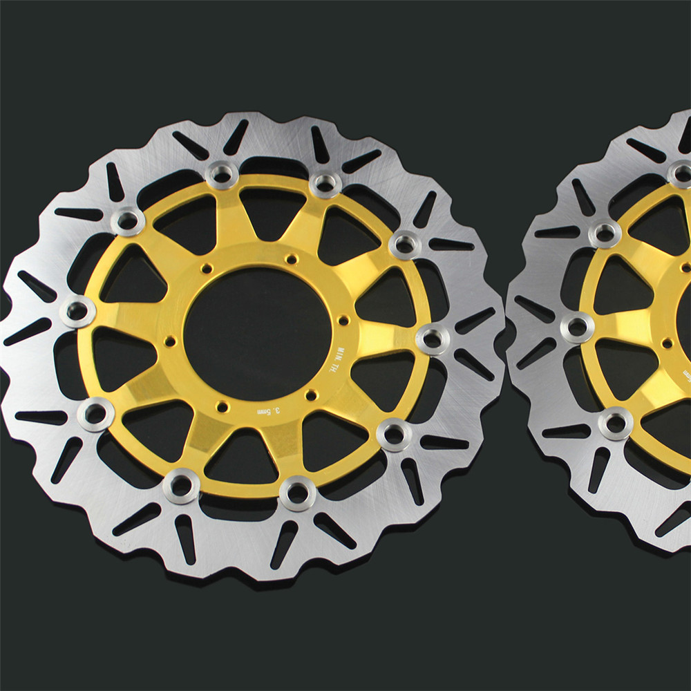 2 Pcs Motorcycle Front Floating Brake Disc Rotor For Honda CBR1000RR CBR1000 2006 2007 2008 2009 2010 2011 12 CBR 1000 RR 1000RR 2 pcs motorcycle front floating brake disc rotor for honda cbr1000rr cbr1000 2006 2007 2008 2009 2010 2011 12 cbr 1000 rr 1000rr