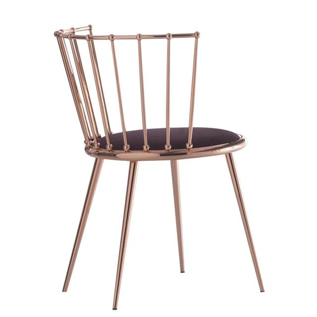 Mobili di lusso foshan struttura in metallo sedia sgabelli velluto ...
